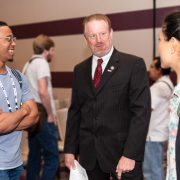Young Designers meeting an industry professional at the 2019 SEGD Conference Experience 2019.