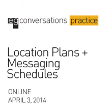Graphic for the Location Plans + Messaging Schedules