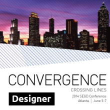 Graphic for the Conference Ticket for a Designer