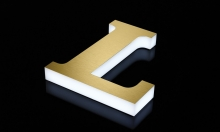 Gemini Introduces New LUXE LED-illuminated Letters (Image: letter L)