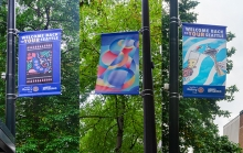 Seattle Business leaders partner with SuperGraphics to beautify downtown with forty-five banners designed by young local BIPOC artists