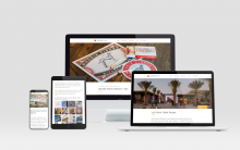 ArtHouse Design Debuts New Web Presence (image: website on computer and mobile)