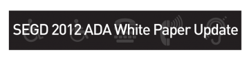 2012 ADA White Paper Update
