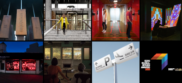 A grid of eight images pertaining to the 2020 Global Design Awards Winners