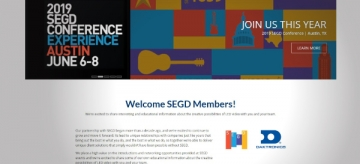 Daktronics Releases New Portal for SEGD Members (image: website screenshot)