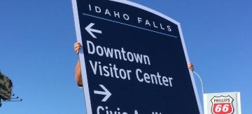 Idaho Falls Signage (image courtesy of City of Idaho Falls)