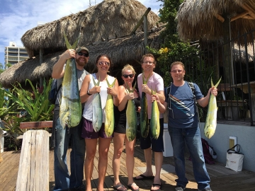Jesse Yungner and Adam Halverson with their Mahi-Mahi Catch