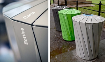 Photo of Landor's new recycling system for Central Park