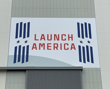 """NASA called SuperGraphics when they needed to install a new """"Launch Amer"""