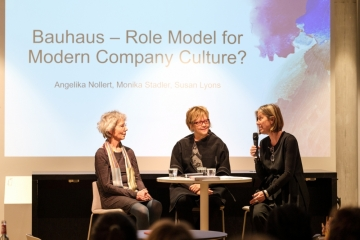 Designtex and Steelcase Celebrate 100 Years of the Bauhaus (image: photo of speakers on stage)