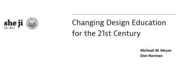 Changing Design Education for the 21st Century