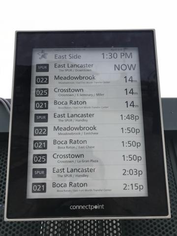 Trinity Metro Deploys Digital Bus Stops at Six Transit Centers