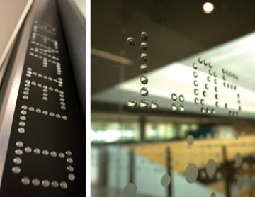 Photo of wayfinding for Sydney Water