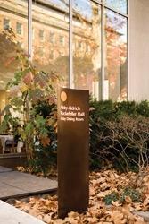photograph of Rockefeller University wayfinding system