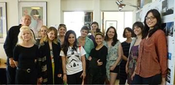 Photo of Forham University students visiting Calori & Vanden-Eynden