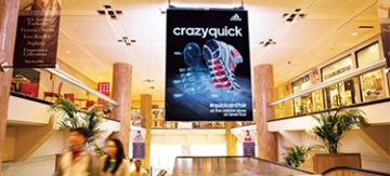 Photo of LED video banner at Chicago's Water Tower Place