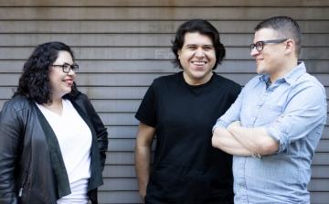 Leviathan Executive Producer Luvy Delgado, Creative Director Pedro Andres Sanchez and Senior Motion Designer Krzysztof Pianko.