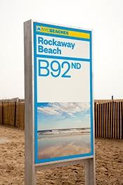 Photo of signage on New York City beaches