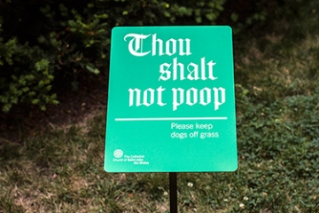 Photo of signage for Cathedral Church of St. John the Divine