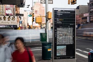Photo of WalkNYC pedestrian wayfinding