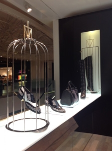 Photograph of Truth or Dare shoe collection exhibition