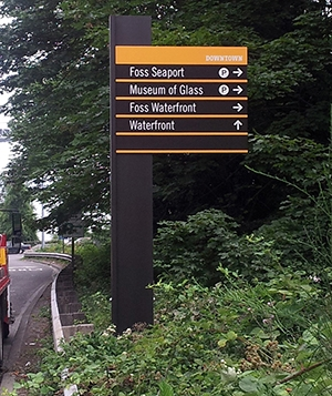 Photo of City of Tacoma, Washington wayfinding signage