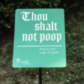 Cathedral Church of St. John the Divine Dog Signage