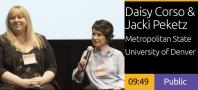 2018 Academic Summit Minneapolis - Daisy Corso & Jacki Peketz - Hispanic Serving Institution Interactive Installation