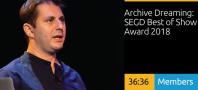 Archive Dreaming: SEGD Best of Show Award 2018