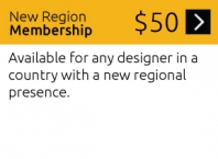 New Region Membership - Available for any designer in a country with a new regional presence.