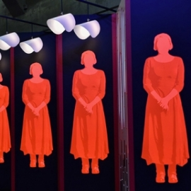 """The Handmaid's Tale"" Highline Installation"