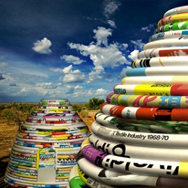 Billboard Earthbag Project, Norman Lee and Charles Houser