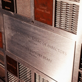Women's Support & Community Services Donor Wall, Kuhlmann Leavitt, Inc.