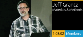 Jeff Grantz, Methods & Materials