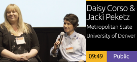 2018 Academic Summit Minneapolis - Daisy Corso & Jacki Peketz - Hispanic Serving Institution Interactive Installation