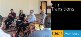Wayne McCutcheon, Kathy Fry, Al Ross, and Keith Helmetag - Firm Transitions