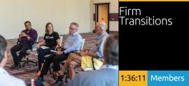 Wayne McCutcheon, Kathy Fry, Al Ross, and Keith Helmetag - Firm Transitions