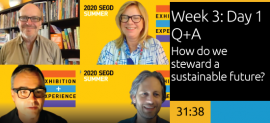 Week 3: Day 1 Q&A  How do we steward a sustainable future?