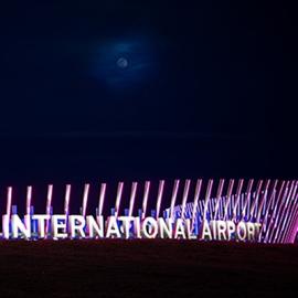 Denver International Airport Welcome Sign