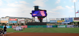 Daktronics' newest Visual Display for the Sugar Land Skeeters_2020