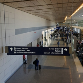 Dallas Fort Worth Airport Wayfinding Signage
