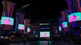 SNA Tower Lighting Enhances Vibe at L.A. LIVE