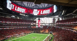 Daktronics Displays Surround Super Bowl At Mercedes-Benz Stadium