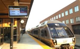 NANOV Displays alongside train tracks in Edmonton, Alberta