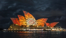 Obscura Digital's projections on the Sydney Opera House