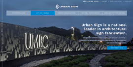 Urban Sign's New Website