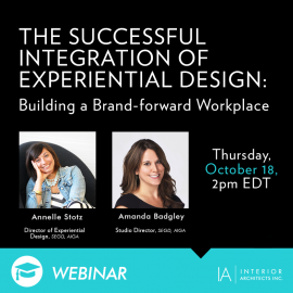 Interior Architects' Stotz and Badgley to Give Webinar on EGD