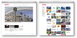 Screenshots of Entro website