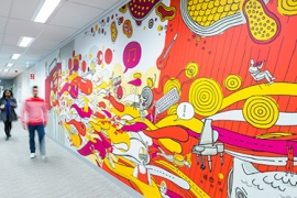 Photo of Commonwealth Bank's call center mural