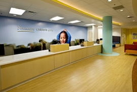 Photo of supergraphic wall at Nemours Children's Clinic